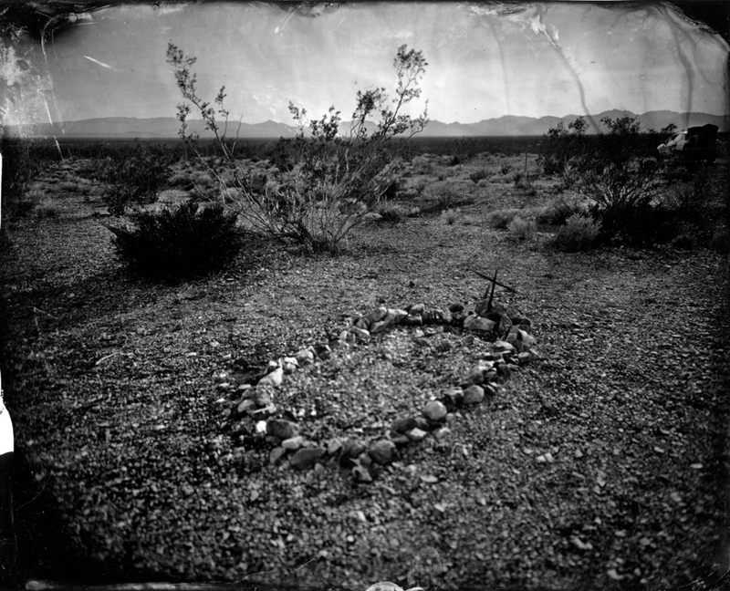 Unmarked grave, Nevada, 2010