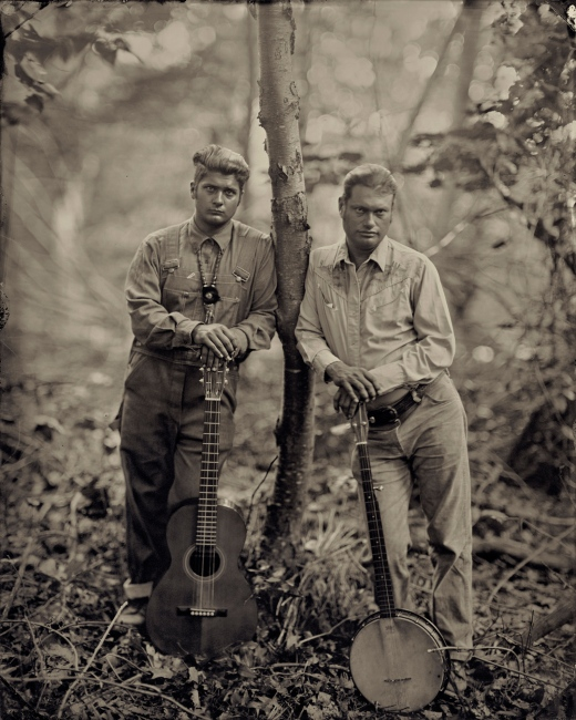 Moses Nelligan and Matt Kinman, Clifftop, West Virginia, 2013