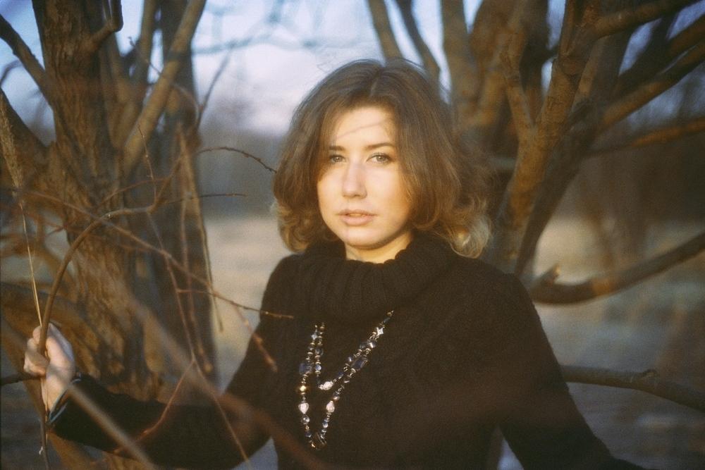 Nadezhda and the orange scarf