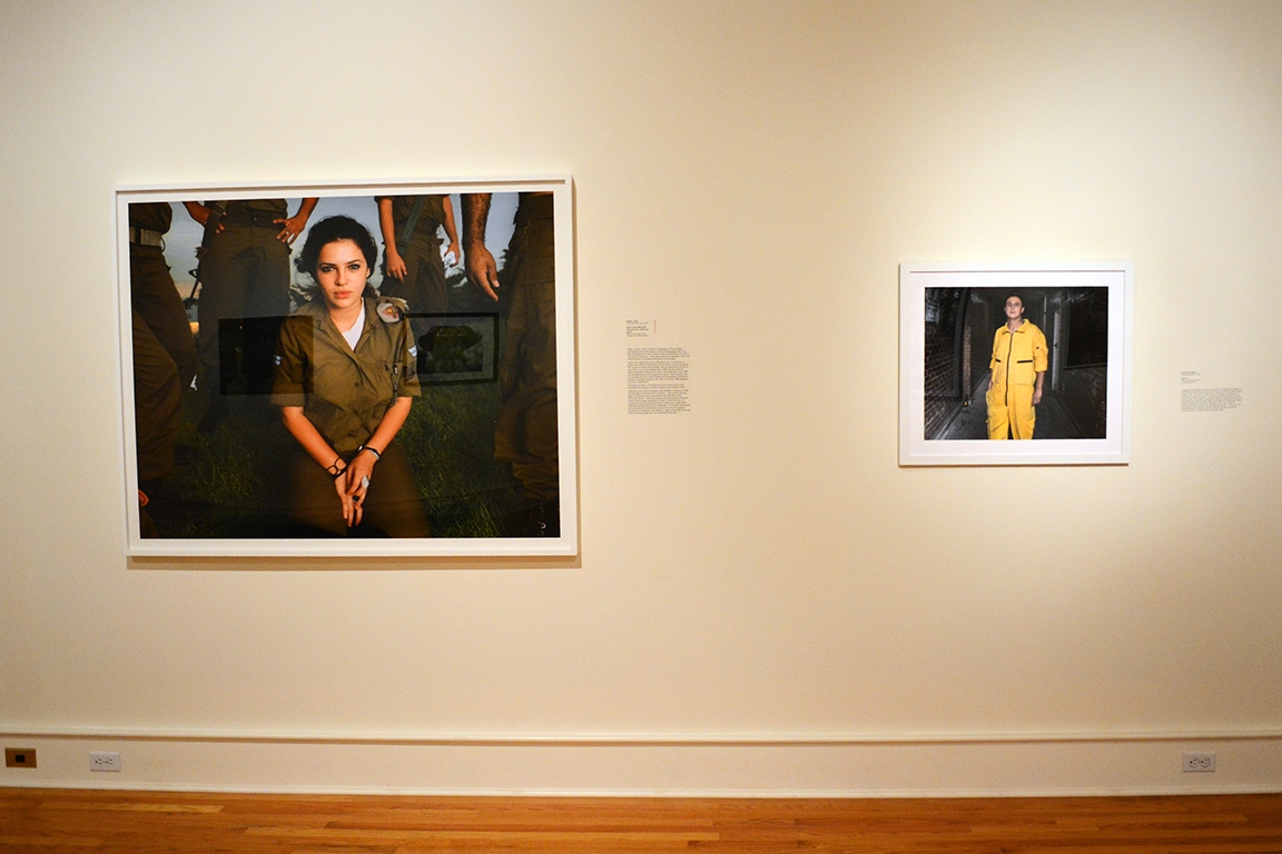 """Aliza at the Memorial "" by Gillian Laub (Left Side) and ""Hector"" by Antonio Pulgarin (Right Side),  The National: Best Contemporary Photography 2015 , Fort Wayne Museum of Art."