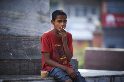 Suraj (14) is dreaming of becoming a bus conductor. His motivation he said, is that bus conductors always seem to have their hands filled with money.