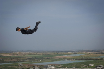 '3 Run Gaza' Parkour in the Gaza Strip.