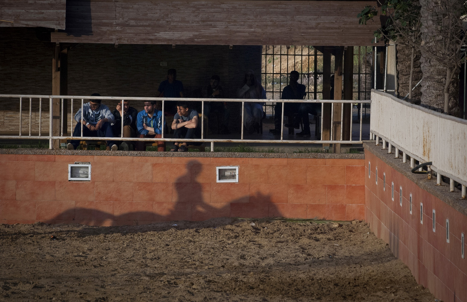 "The President's Equestrian Club in the north of Gaza. It is the most developed of the 3 equestrian clubs in the Gaza Strip. The Club's is ""The place to be seen for Gaza's teenage elite."" Catering to a wealthy, young, secular crowd. It is part of a recreational ""circuit"" for wealthy Gazans that includes seaside cafes."
