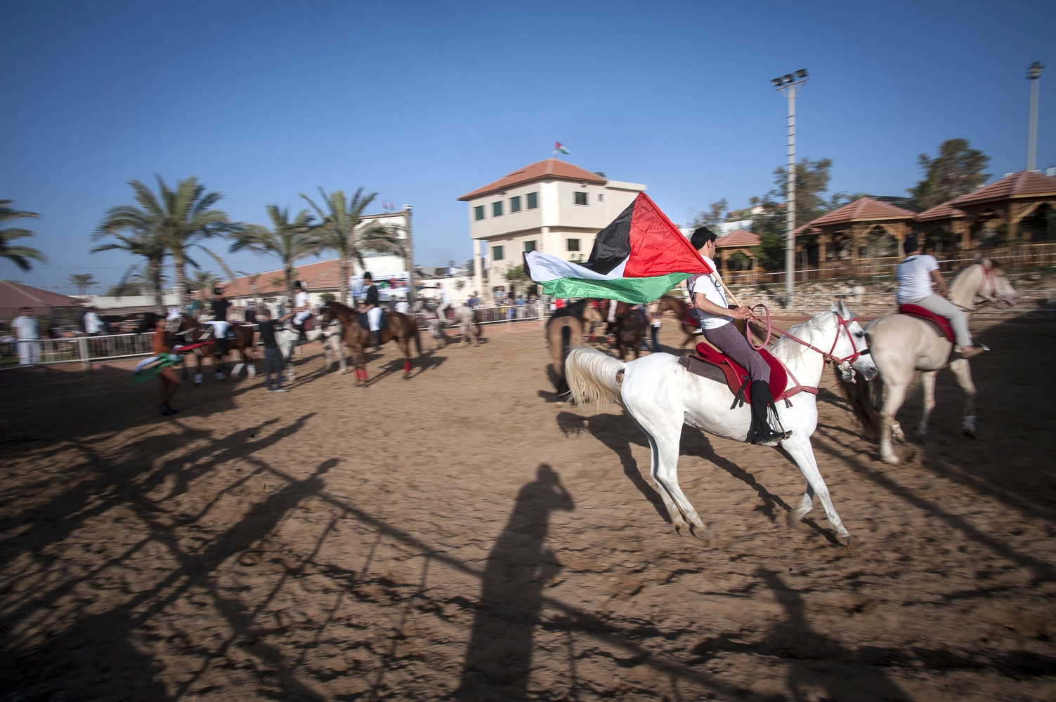 The President's Equestrian Club in the north of Gaza. It is the most developed of the 3 equestrian clubs in the Gaza Strip.