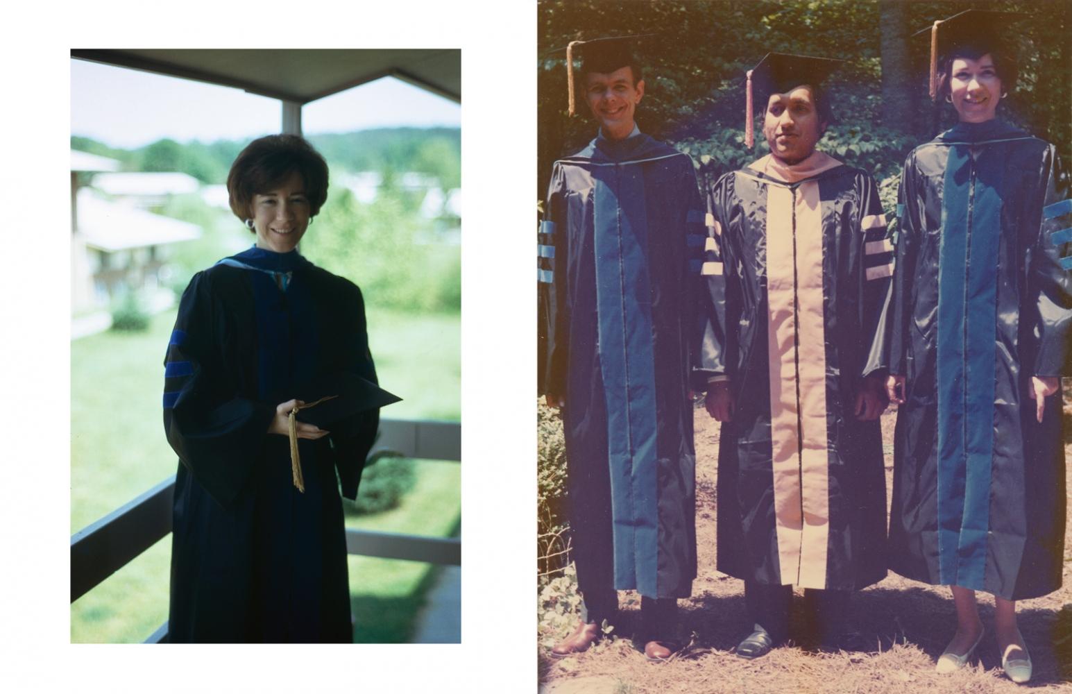 Judy and John Klaas receive their PhDs at University of North Carolina