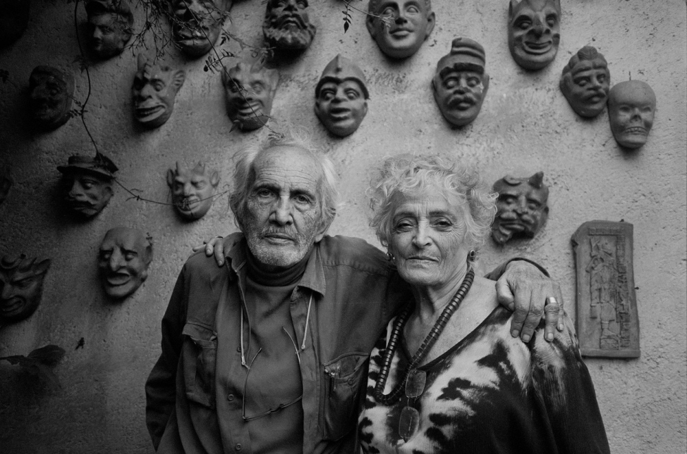 Hugo Velazquez & Aurora Suarez, ceramist/architect, old friends, Cuernavaca, Morelos 2010. Two of the first people I met when I moved to Mexico in 1961