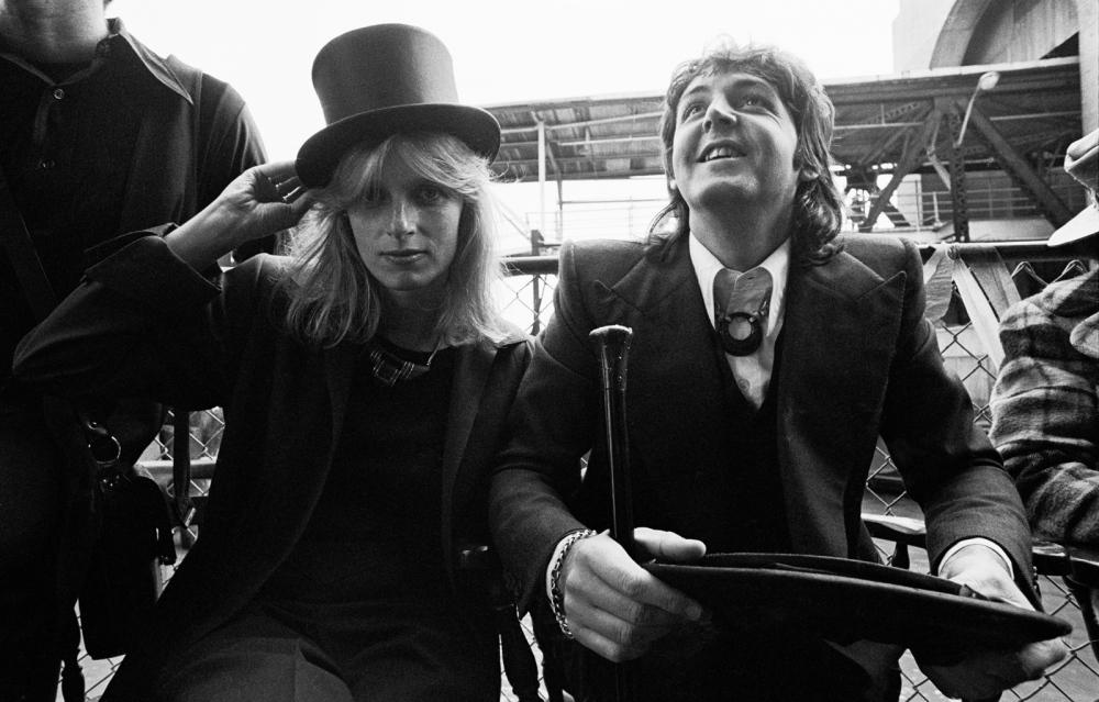 "Paul & Linda McCartney, New Orleans, La, at the launching of the ""Venus & Mars"" album"