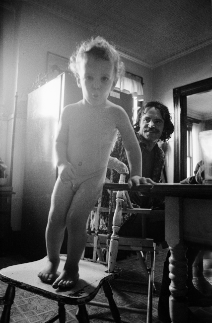 Dusty Miller with his son, Utica, NY, poet, editor of 1979,