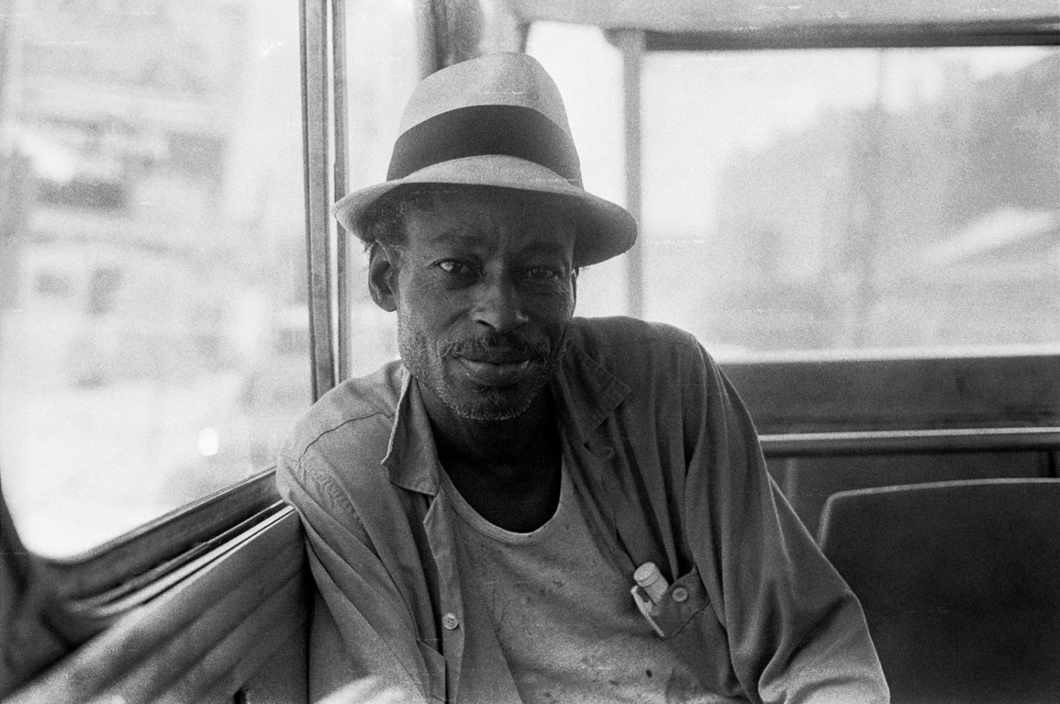 Man on the Magazine Street bus 1974, with whom I exchanged a smile and a short conversation.