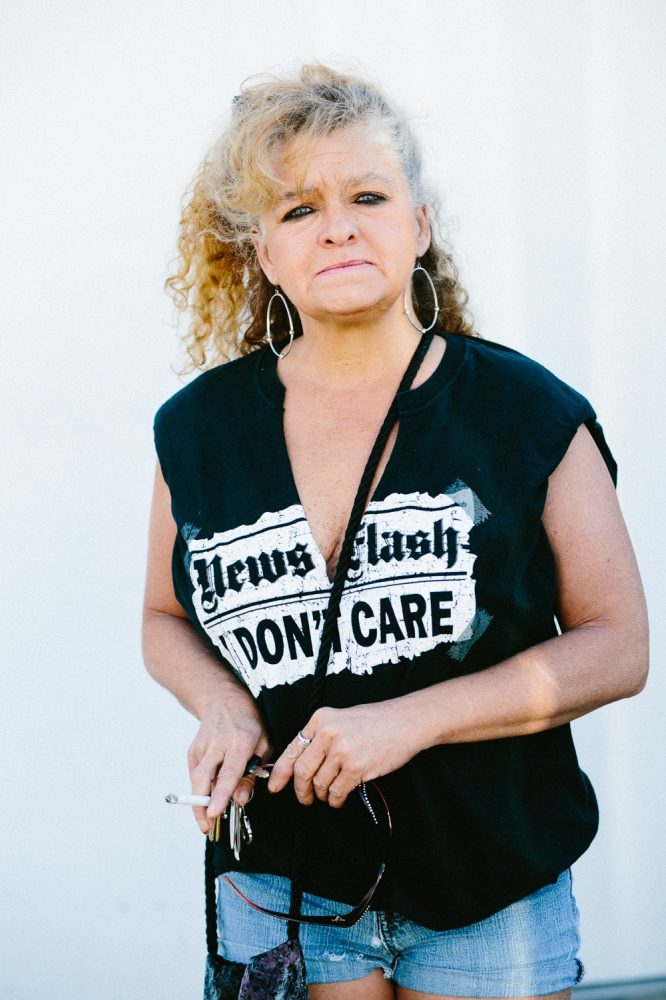 Tangie, 49, recovering heroin addict. Tangie lost a daughter to a heroin overdose.
