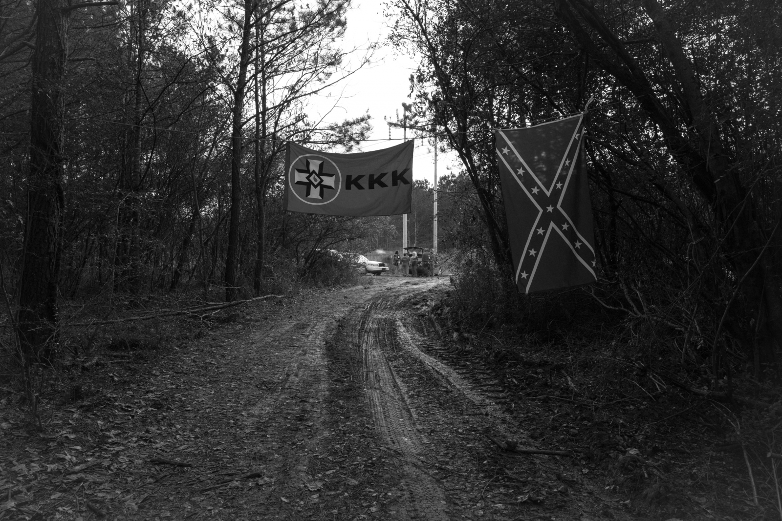 Trion, Georgia. A small impromptu gathering of a newly formed Klan group.