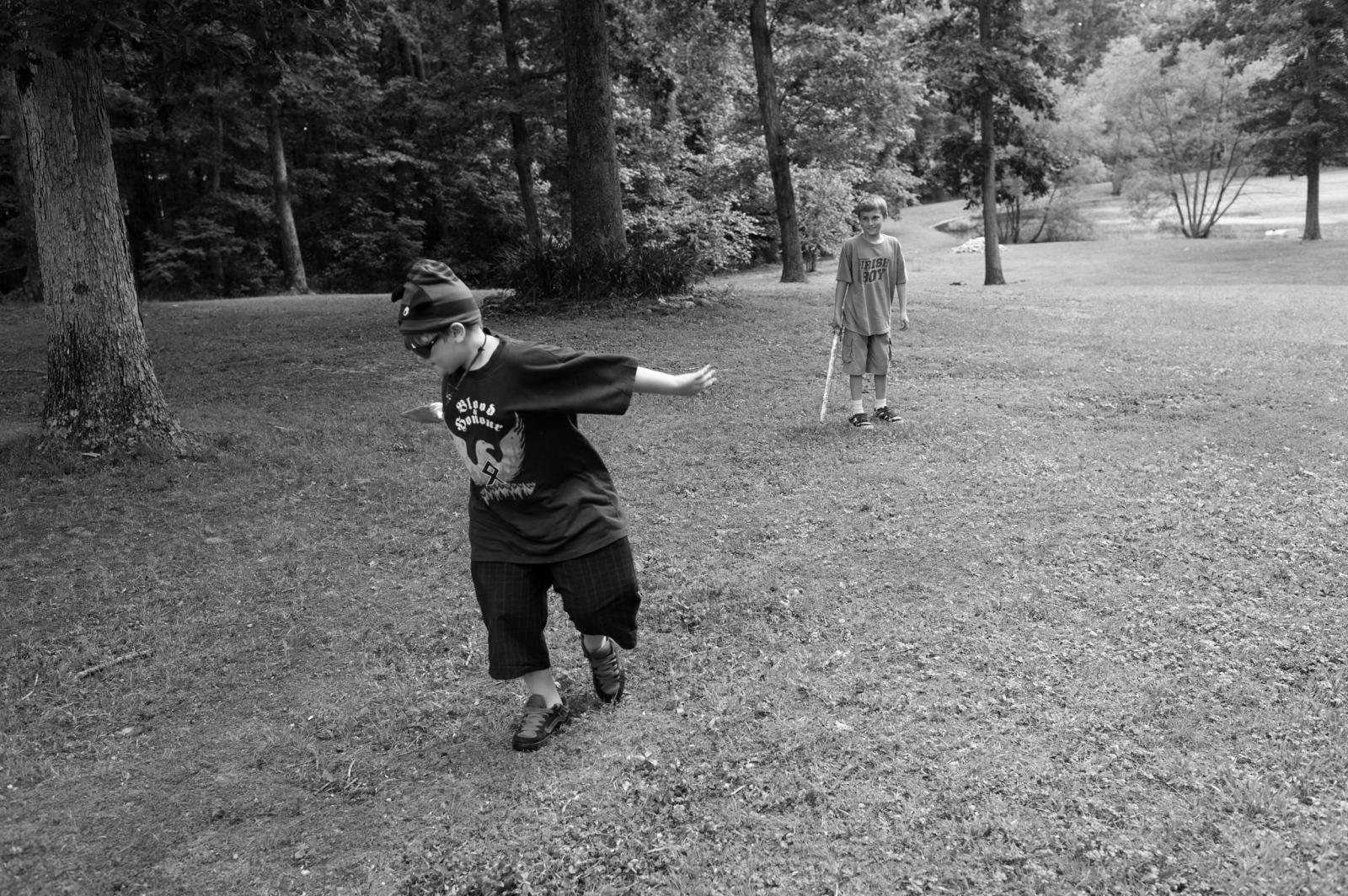 Virginia.Children playing during a Klan unity gathering.