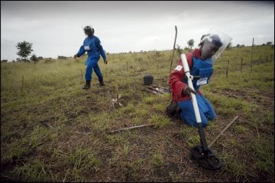 Demining in Damo minefield Maputo Province, Mozambique.