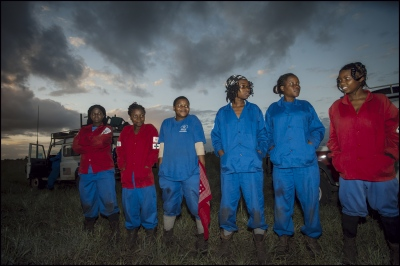The Women's section deploy at 6am in Damo minefield, Maputo Province, Mozambique.