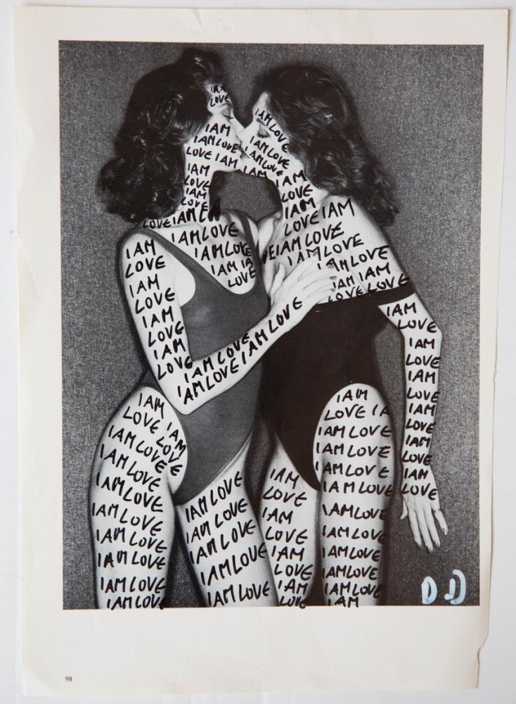 """I am Love"" Drawing on magazine 8x11inch 1000$"