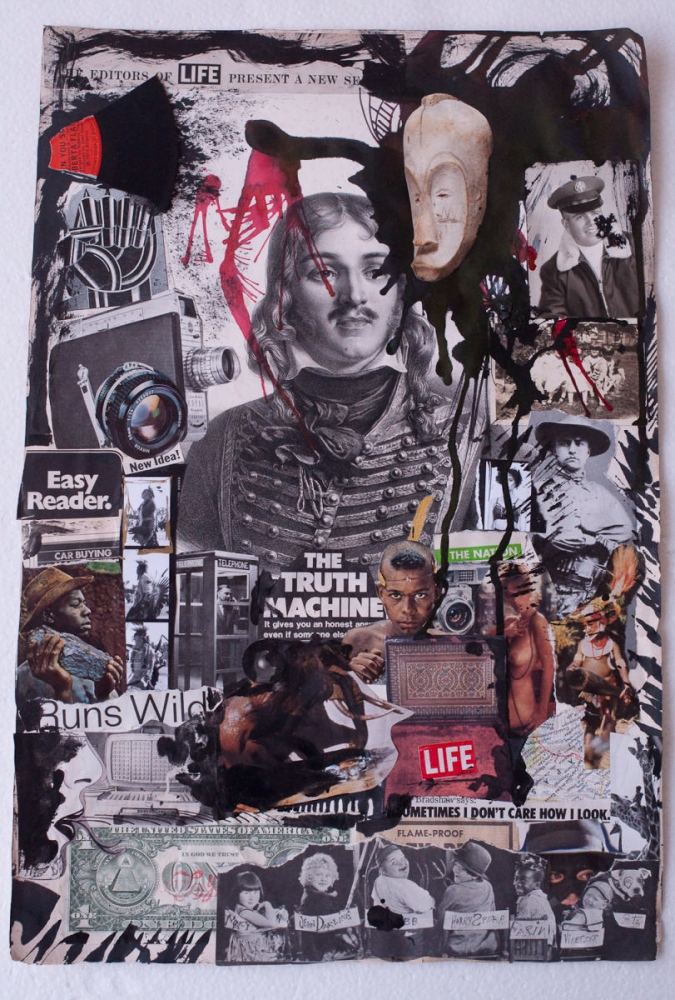 """The truth"" Collage on paper 19x12.5inch 6000$"