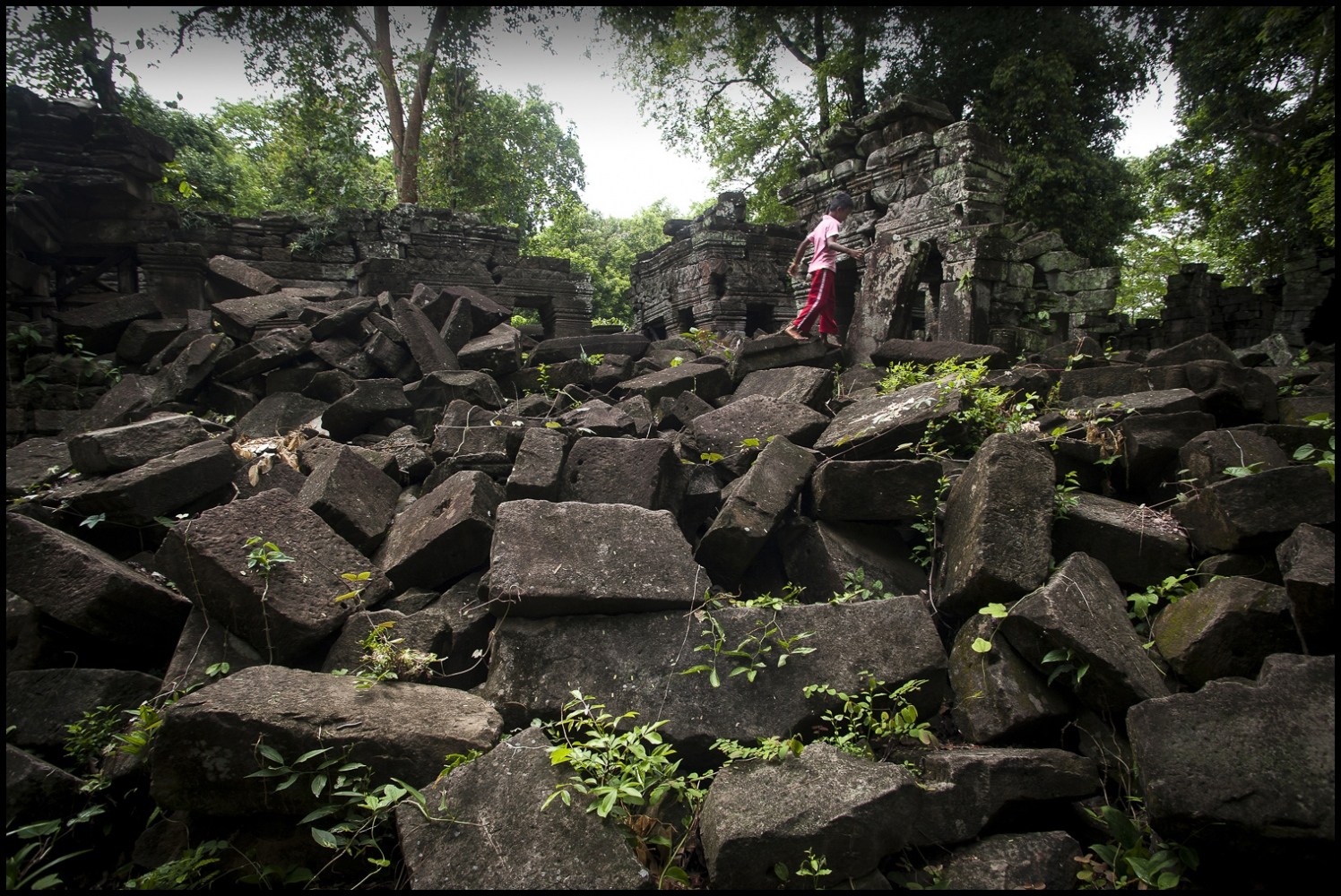The Bas Relief at Banteay Chhmar Temple in Cambodia. Built by Khmer King Jayavarman 7th (1181-1219).