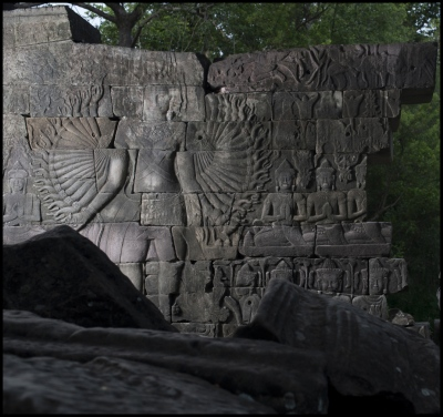 The 'God' Avalokiteshvara at Banteay Chhmar Temple in Cambodia. Constructed by the 12th century Khmer King Jayavarman 7th (1181-1219).