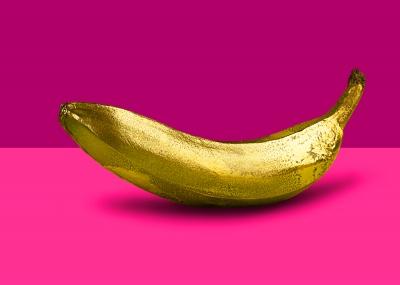 Golden Fruit pop Art