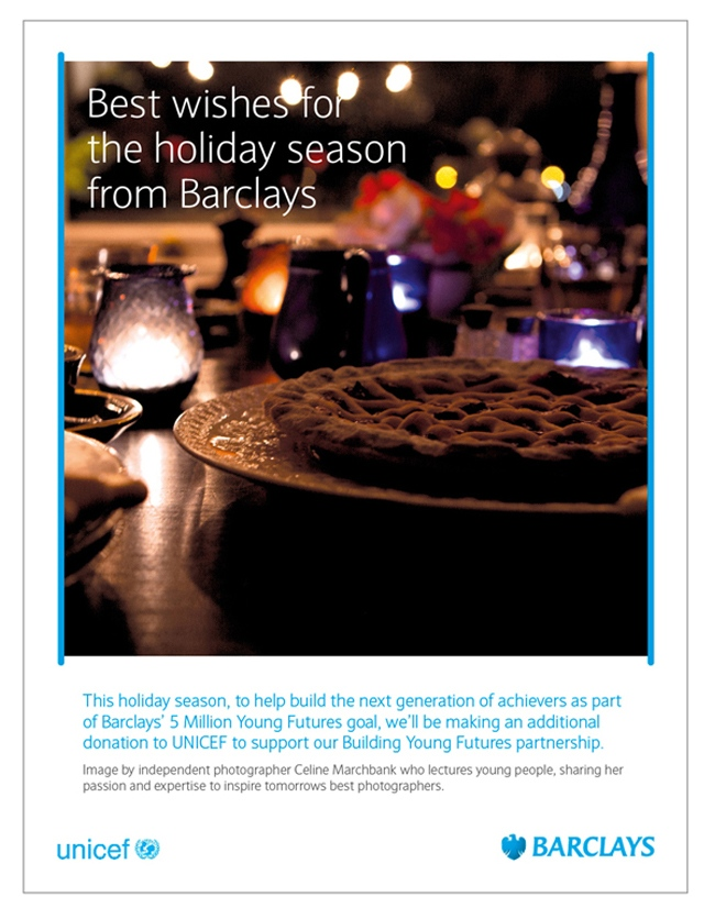 Barclays worldwide Christmas image, 2015