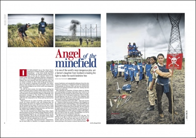 'Angel of the Minefield'-Spectrum Magazine-Scotland on Sunday    Mozambique