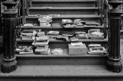 Honor System Book Sale, Cobble Hill, Brooklyn, NY