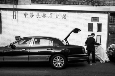 Loading the Trunk at the Mortuary,NYC