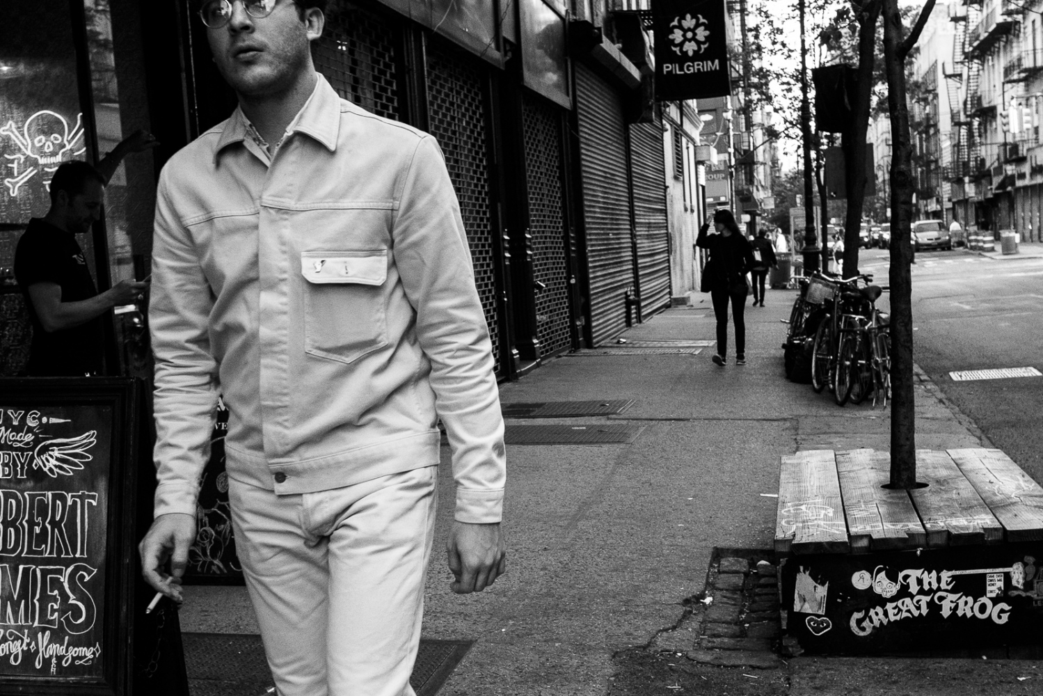 All White and Smokin', Lower East Side, NYC