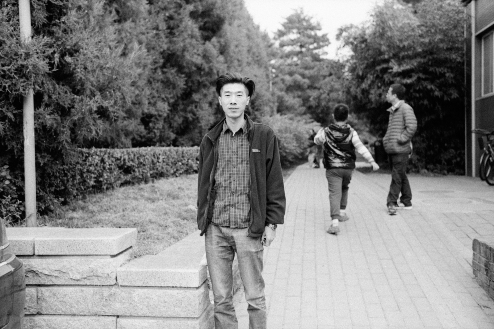 A man who allowed me to photograph on street near Andingmen. Beijing, China. 2015