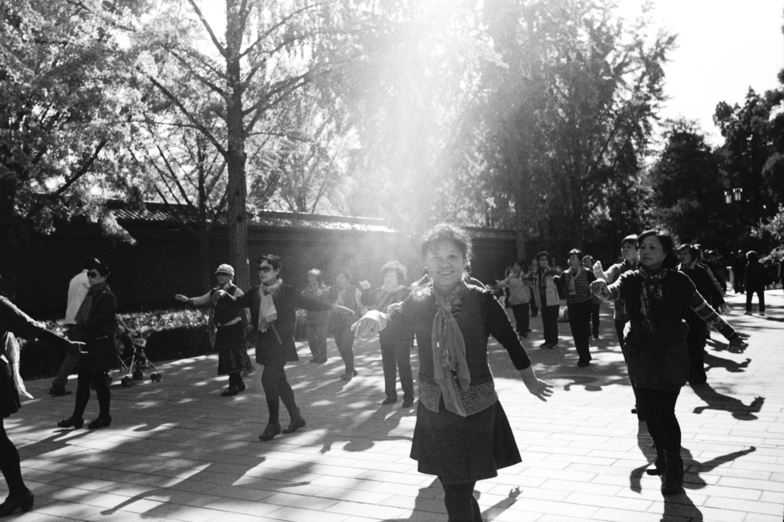 Beijin people dancing for exercise in a morning in Jingshan park. One of the last pictures I made in my last stay in Beijing. Beijing, China. 2015