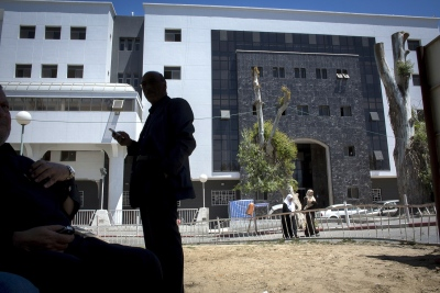 """The new wing of the Al Shifa (arabic for """"healing"""") Hospital, Gaza City, occupiedPalestinian territory, near completion. This will be the future home of a self sustaining transplant unit with direct access to the nephrology ward."""