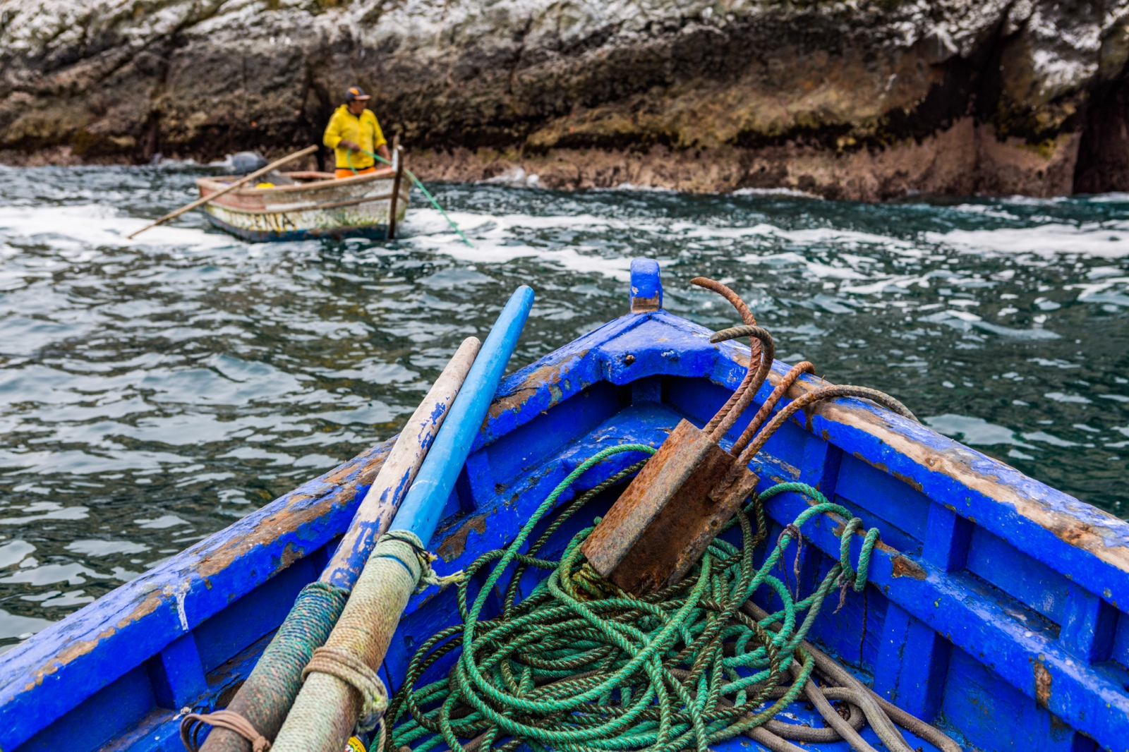 Fishing in the Pescadore Islands in Ancón, Peru. From a personal project on new models in fisheries management.