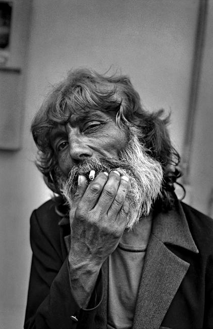 El Chango, a well-known flamenco and gypsy artist. Seville.