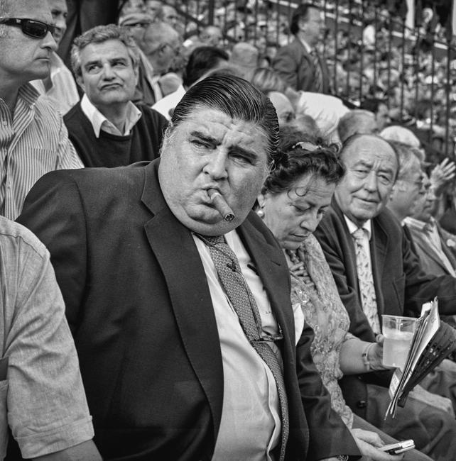 Bullfight enthusiasts, Seville.