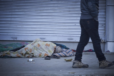 "Even though they are sleeping on the streets, this specific space is what they call ""home""."