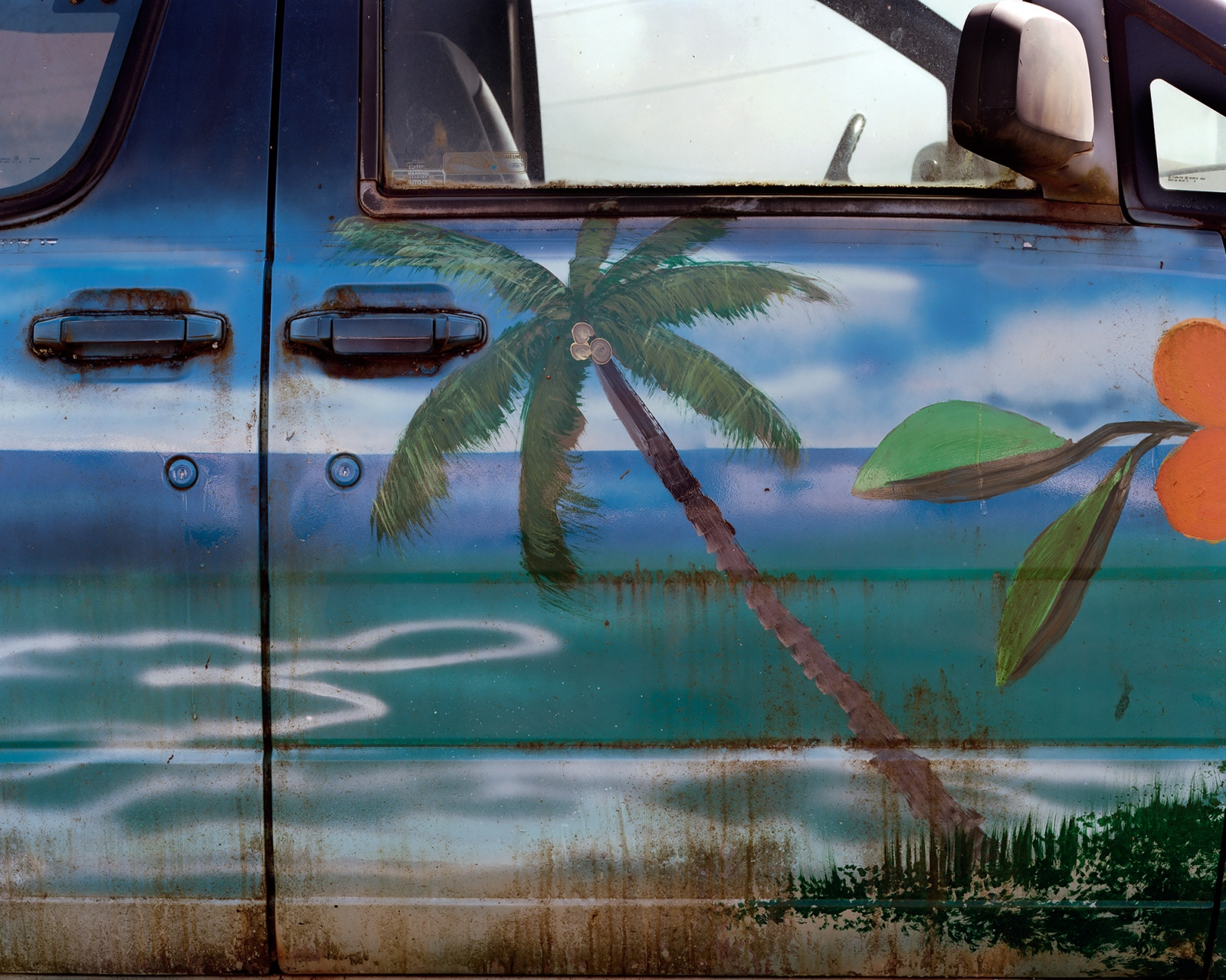 Untilted (Palm Tree on Car Door), Hawaii 2015