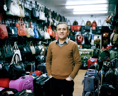 This is Shahram Torfakh, he owns Ark Accessories which is a bag and accesories shop. He has another shop in Edmonton. Shahram has had the shop on West Green Road for nearly seven years. Shahram is from Azerbaijan, he tells me a little bit about the country and invites me to go with him.