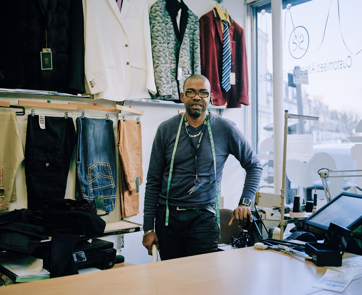 Simon Stewart has been running his tailoring business on the road for 7 years.