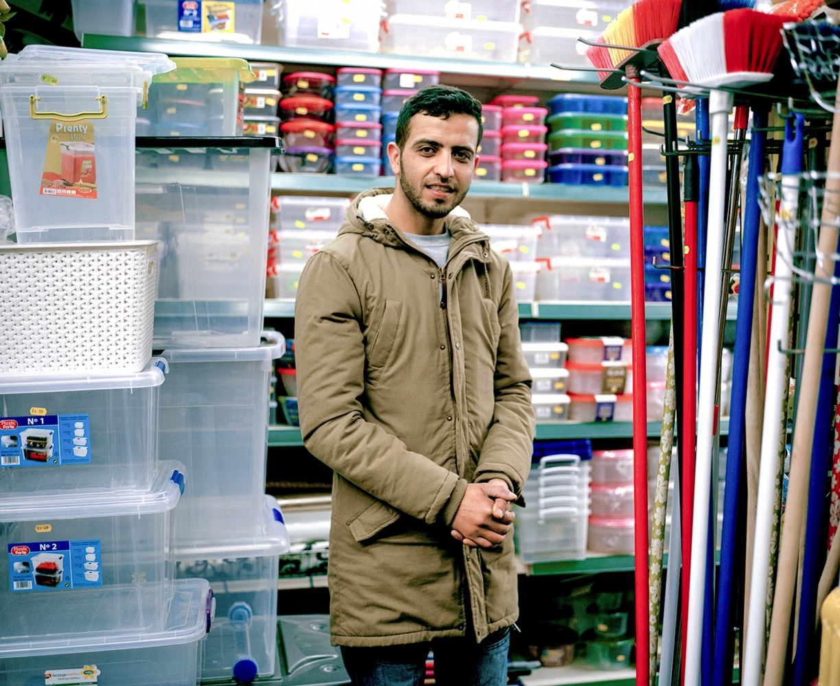 This is Tariq Zakil, he works in one of the shops which sells everything and anything. We don't have a long conversation, he seems quite shy.