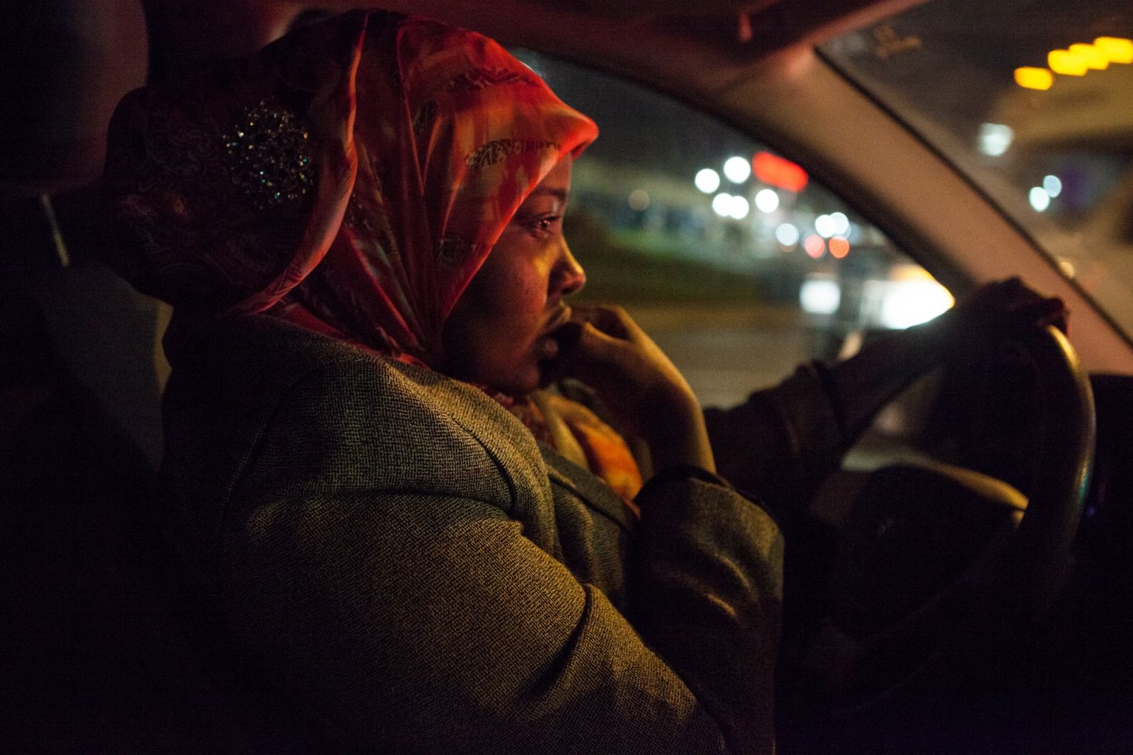 Saciido Shaie rushes to go shopping with her kids and drop them off at home before attending a board-of-directors meeting for her non-profit organization, called the Ummah Project.
