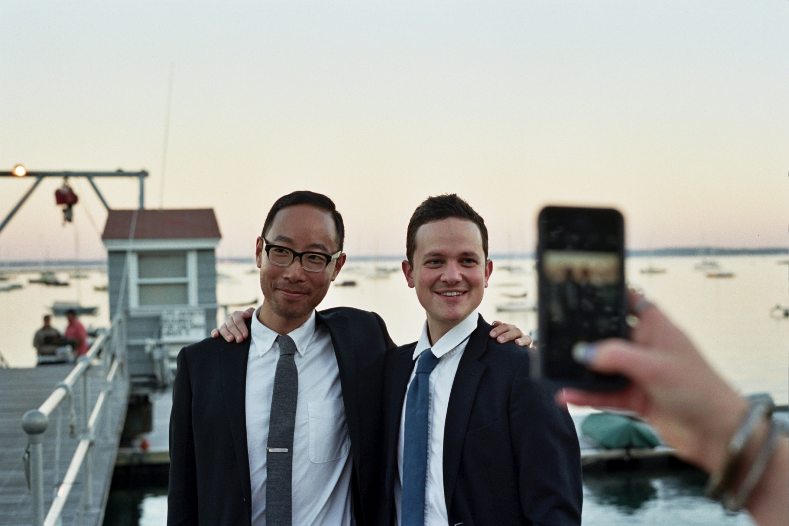 Yuta and Damien at our friends wedding, Larchmont, NY