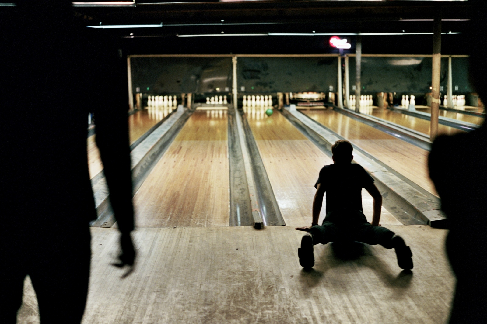 Denis trying to bowl, New York, NY