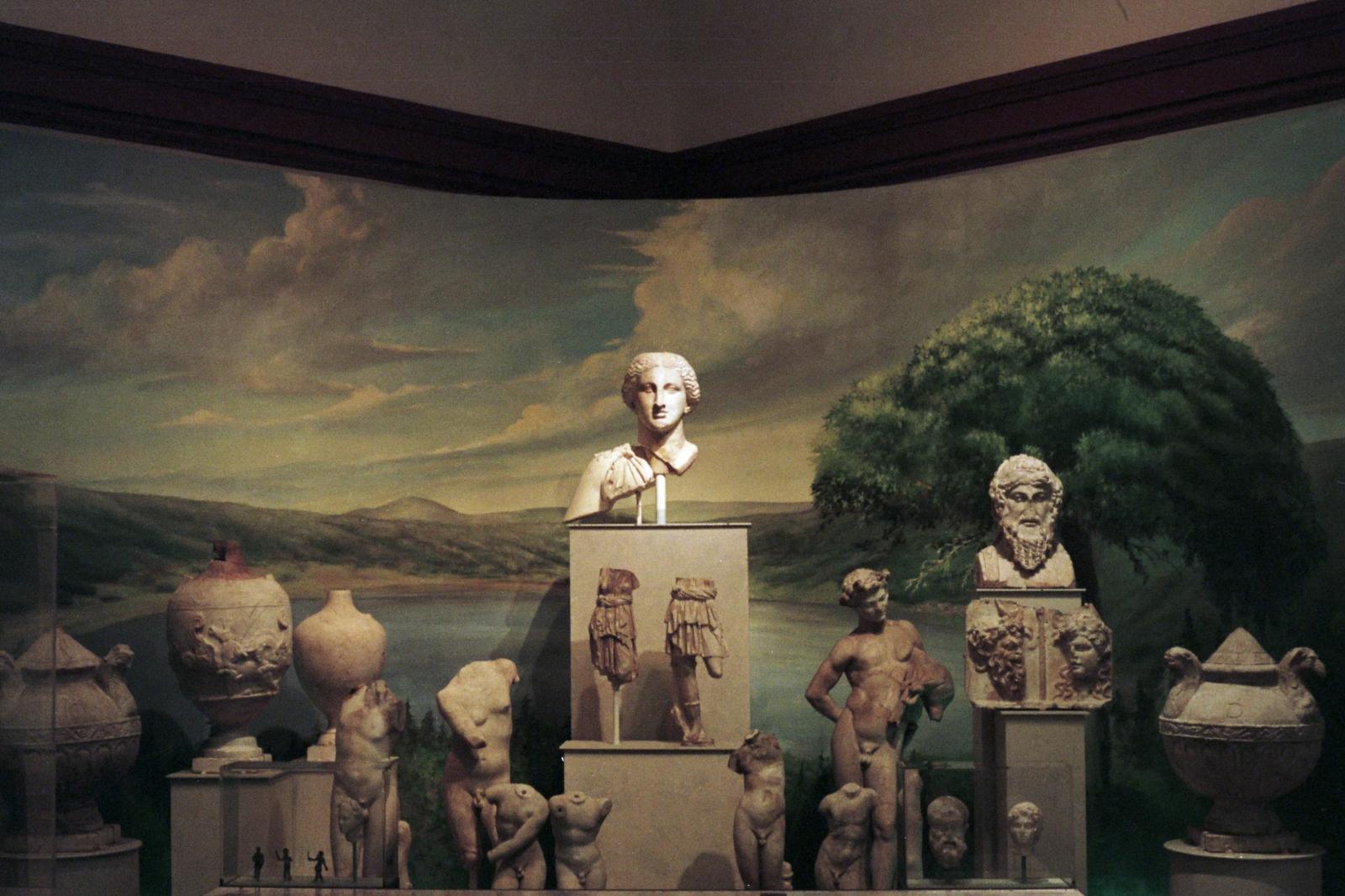 Roman antiquities display, Philadephia, PA