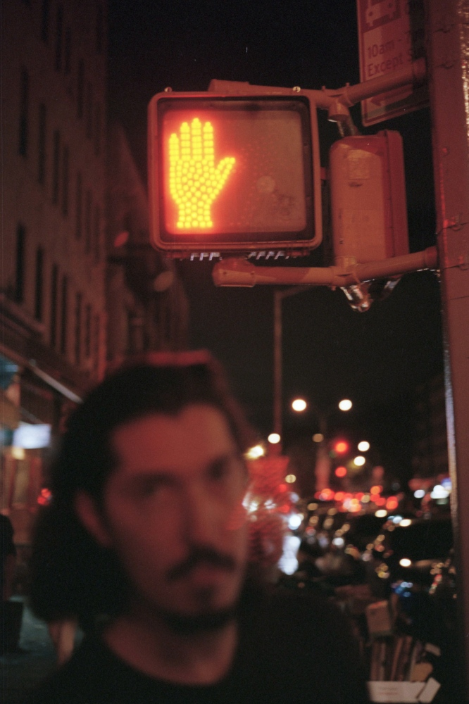 Malcolm under the streetlight,New York, NY