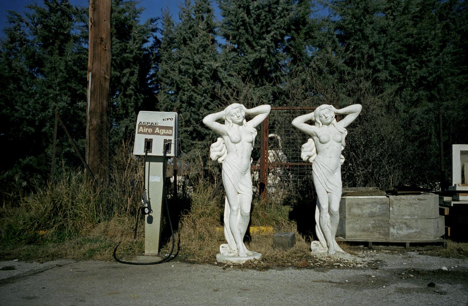 Gas station. Near Lake Prespa, northern Greece.