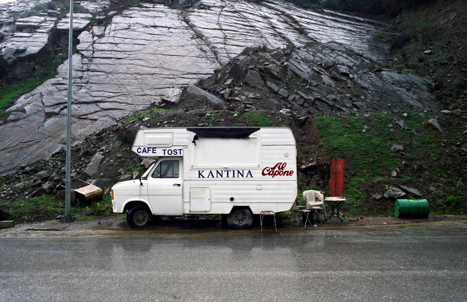Food truck. Near Lake Kremaston, central Greece.