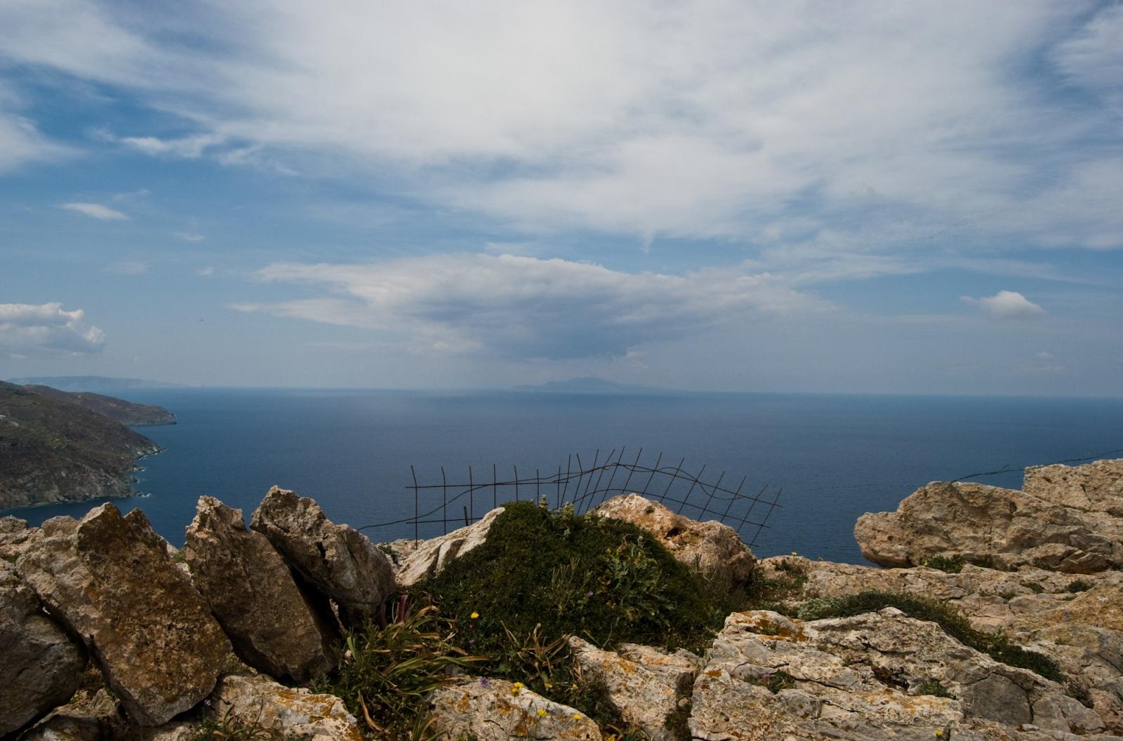The edge. Folegandros island, Greece.