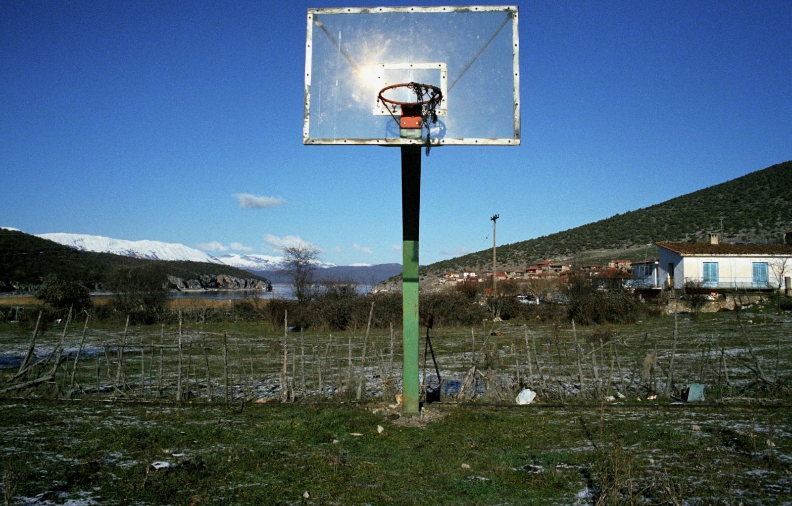 Village basketball court. Near the Albanian border, northern Greece.