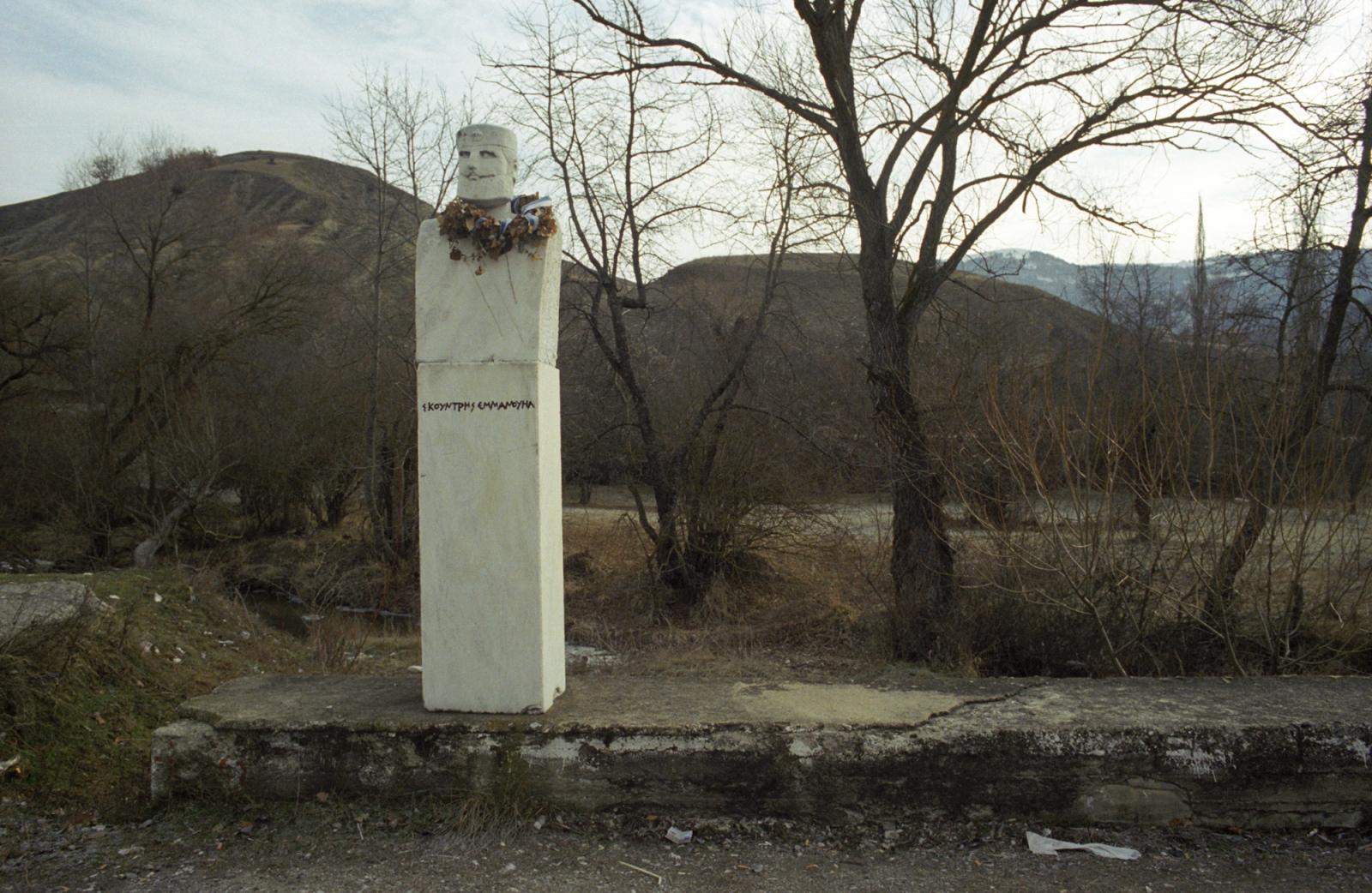 War hero. Near the Albanian border, northern Greece.
