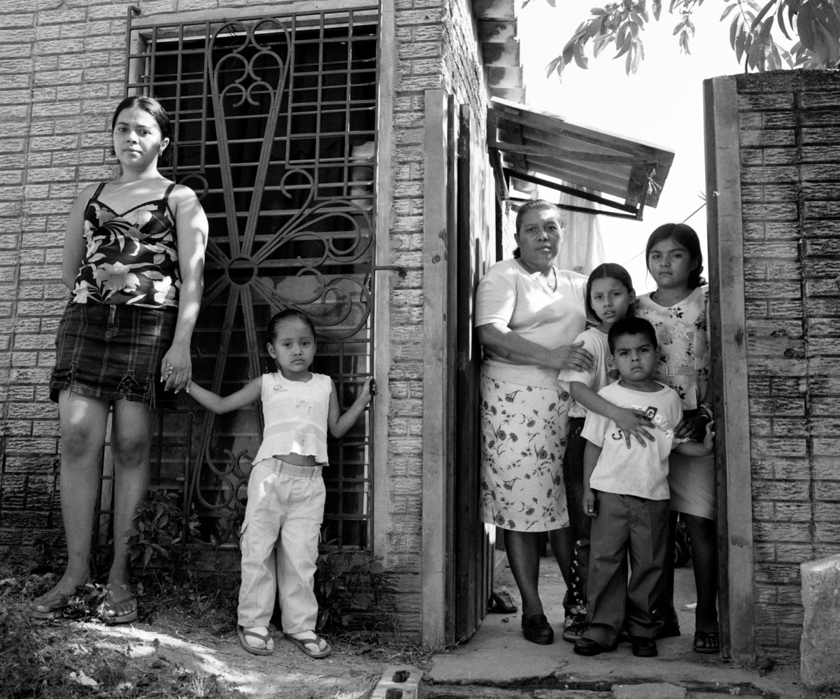 The children and mother of Carmen Climaco at their home. Climaco was given 30 years for an abortion that was ruled a homicide. 2006
